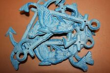 (20) Mermaid Sitting on Anchor Cast Iron Wall Hooks, Bulk Set of 20 pcs, N-15