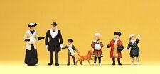 Preiser 12184 Spur H0 Figuren, Winterliche Passanten, Um 1900 #NEU in OVP#