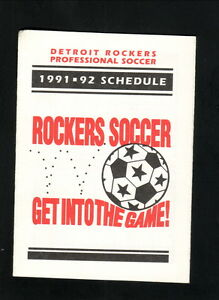 Detroit Rockers--1991-92 Pocket Schedule--Swift/Eckrich