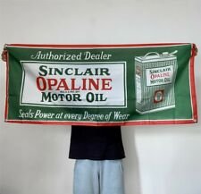Sinclair Opaline Motor Oil Banner Gas Tapestry Flag Fabric Poster Sign 2x5 ft