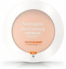 Neutrogena SkinClearing Mineral Powder, Nude 40 0.38 oz (Pack of 2)