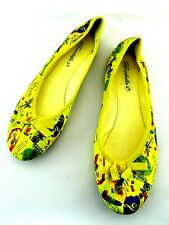 Breckelle's Ballet Flats Size 8 Yellow Jazz Theme