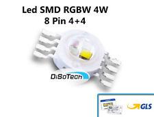 LED SMD RGBW 8 Pin 4+4 4W 3/3,4V per Effetti LUCE PAR LED