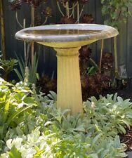 Vintage Large Concrete Pedestal Bird Bath