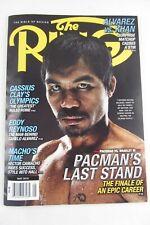 THE RING Boxing May 2016 Magazine Pacman Cassius Clay Eddy Reynoso Alvarez Khan