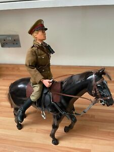 vintage action man British officer & horse