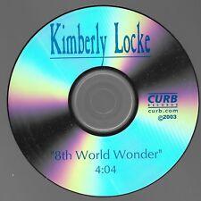 8th World Wonder [Promo Single] by Kimberley Locke (Cd 2003) [1 trk]