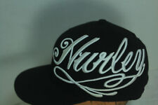 Hurley Black Embroidered Hat Cap FlexFit Fitted Size 6 7/8 - 7 1/4