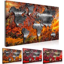 WELTKARTE ABSTRAKT Wandbilder xxl Bild Vlies Leinwand Leinwandbild k-A-0505-b-b