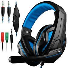 Cuffie Gaming PC, Cuffie da gioco con cavo, Jack da 3.5 e microfono per PS4