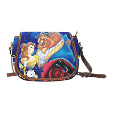 Beauty and the Beast Red Rose Women Girl Saddle Bag Crossbody Shoulder Bag Purse