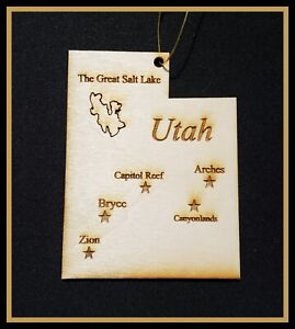 State of Utah Ornament ~ As seen or Personalized