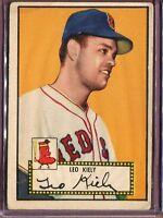 1952 Topps 54 Leo Kiely RC Red Back VG #D126769