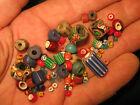 Antique African Trade Beads, 1800's, Italian Glass Collectible, Venetian Etc.