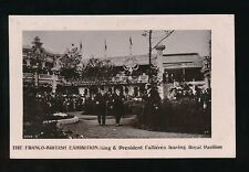LONDON 1908 Franco-British Exhibition KE7 & President Fallieres RP PPC Davidson