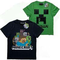 Boys Kids Children Minecraft Gamer T Shirt t-shirt Top Age 5 6 7 8 9 10 11 12