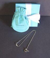 """Tiffany & Co  Elsa Peretti Letter """"A"""" Pendant Necklace 15 1/2"""" Box Pouch"""