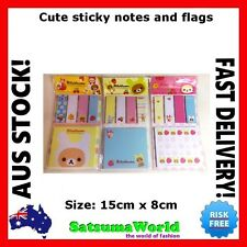 Cute Student Page Marker Markers Sticky Note Notes Rilakkuma Girl Stationery New