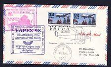 16411) AUA / UA So-LP VAPEX New York - UNO Wien 13.11.98, Brief MeF Airlift