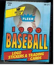 1990 FLEER BASEBALL CARDS UNOPENED BOX  36 PACKS SOSA ++