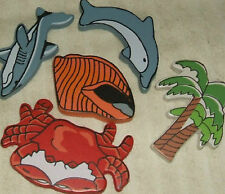 6 Sea Tropical Carved Wood Craft  Kit 2073
