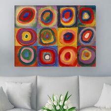 """WANDKINGS Leinwandbild Wassily Kandinsky - """"Farbstudie Quadrate"""" ver. Größen"""