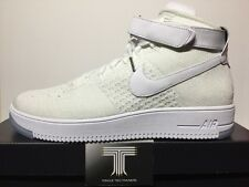 "Nike Air Force 1 Ultra Flyknit mediados de ""Triple Blanco"" ~ 817420 100 ~ UK Size 12"
