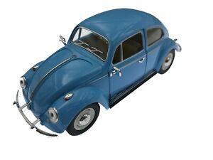 "7"" Kinsmart VW 1967 Volkswagen Beetle Pastel Diecast Model Toy Car 1:24- BLUE"