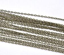 10M Chaîne Maille Forçat Pour Collier Bracelet Bijoux Accessoire Bronze a  Mode