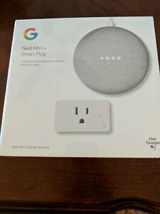 NEW Google Nest Mini + Smart Plug 2nd Generation factory sealed.