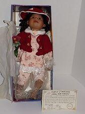 "Vintage Large Ashley Belle African American Porcelain Doll 20"" Open Mouth"