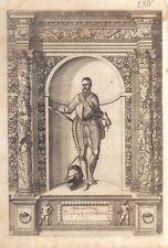 Maximilianus Erzherzog Desterreich - Incisione G.B. Fontana, D. Custos 1600