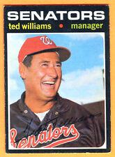 1971 TOPPS SENATORS TED WILLIAMS MGR #380 EX++