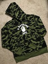 BAPE College Logo Hoodie - Green - XL **Read Description**