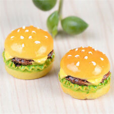 FD2328 Hamburger Miniature Dollhouse Ornament Flower Pot Plant Craft DIY 1pc
