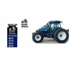 New Holland 8670 8770 8870 8970 Tractor Repair Service Manual CD