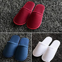2 Pairs Towelling Hotel Slippers Spa Guest Disposable Travel Shoes Unisex