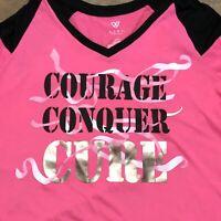 Livi Shirt Lane Bryant Size L 14 16 Pink Tshirt Cure Cancer Long Sleeve Tee