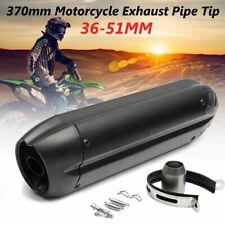 36-51mm Universal Motorcycle Exhaust Muffler Pipe Quad Motorcycle ATV Bike 370mm