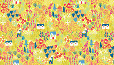 KITTY Cats Garden 100% Cotton fabric Makower Size 55 cm x 50 cm larger available