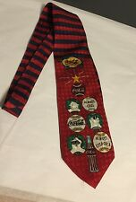 COCA-COLA CHRISTMAS ALWAYS COOL ALWAYS 1996 100% SILK NECK TIE - USA  NWT
