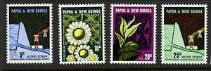 Papua New Guinea 241-4 MNH Laloki River Hydrolectric Dam, Flower, Tea
