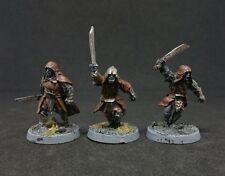3 x Red Eye Uruk-hai Warriors with swords Pro painted LOTR The Hobbit Rare OOP