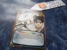 Naruto Cards TCG CCG 791  Weapons of War red,gold,green  + FREE lucky penny