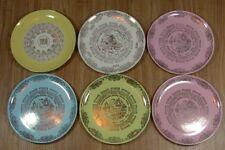 LOT - 6 Vintage 1950s Calendar Plates - 1953, 1957, 1958, Mid Century