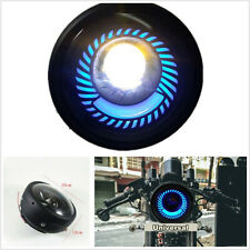 Blue Angel Eye Round 12-80V 6500K Motorcycle ATVs LED Headlight Hi/Lo Beam 600LM