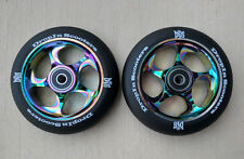 DIS 110mm Black Slicks Neo Chrome Metal Core Scooter Wheels (2 Wheels)