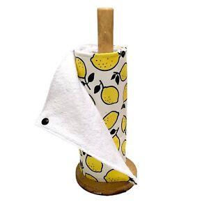 Reusable kitchen roll, unpaper towels, lemon print eco friendly kitchen cloths