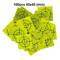 100pcs Fluorescent yellow-green Retro Reflective Target  40mm FOR total station