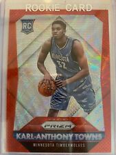 2015-16 Panini Ruby Wave Prizm #328 Karl-Anthony Towns RC Rookie /350